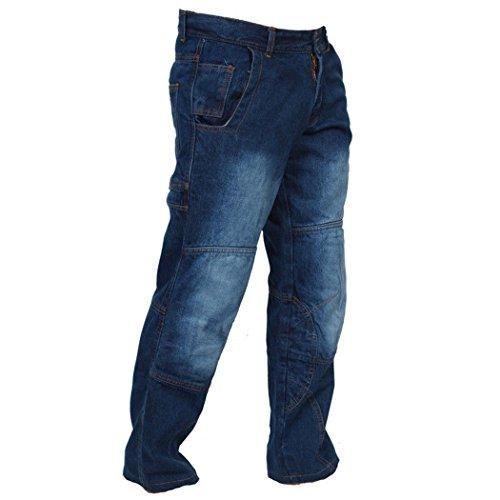 ccf00e7228 Juicy Trendz Hombre Motocicleta Pantalones Moto Pantalón Mezclilla Jeans  Con Protección Aramida Azul  Amazon.es  Ropa y accesorios