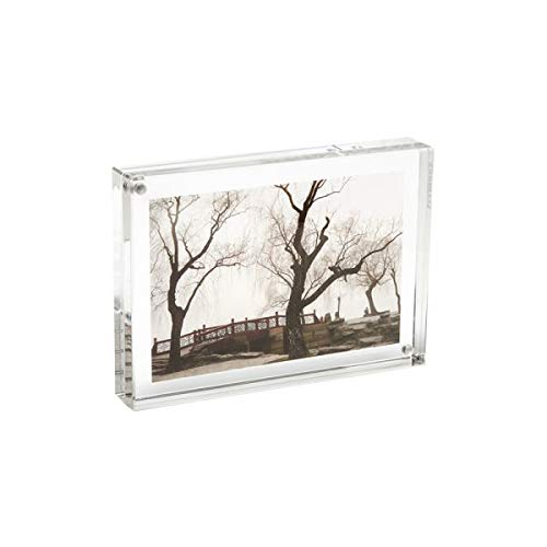 Canetti Original Magnet Frame 2.5x3.5 Double Sided Magnetic Picture Frame, Floating Photo Frame, Two Acrylic Panels by Canetti