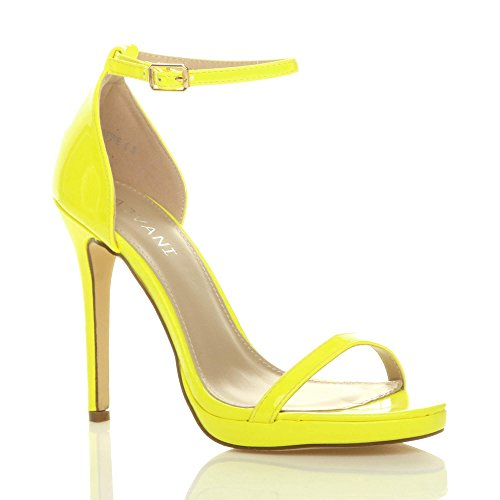 Große Größe Schuhe mit Hohen Absätzen, Herbst Schuhe, Schuhe, Gelb, 30.