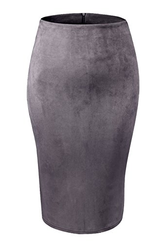 Waist Knee Length Pencil Skirt - 6