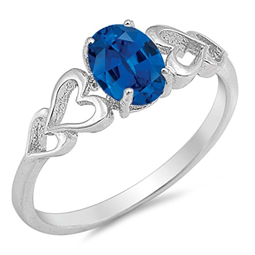 oval sapphire ring - 1