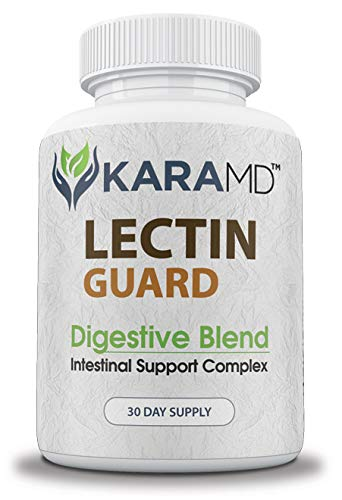 Lectin Guard by KaraMD | Doctor Formulated Natural and Concentrated Lectin Blocking Digestive Blend Supplement | Intestinal Support Complex to Protect from Harmful Lectins - 30 Day Supply