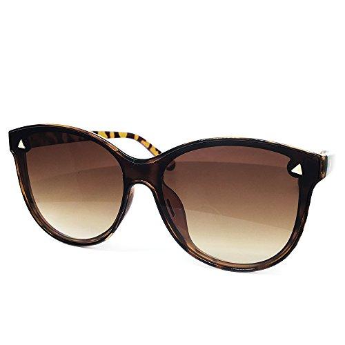 9db7443d37a O2 Eyewear 7123 Oversize One Piece Wraparound Semi-Rimless Shield Lens  Womens Mens Sunglasses on