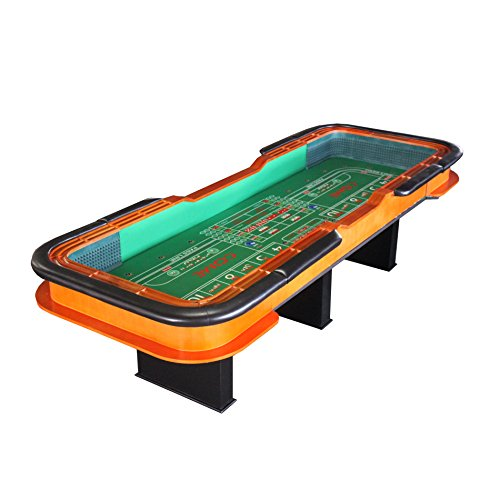 IDS Home 12' Deluxe Craps Dice Table with Diamond Rubber Green Craps Table by IDS Home