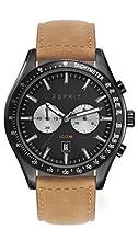 Espirit Ryan - Reloj de Cuarzo con Correa de Piel para Hombres, Color Negro/marrón