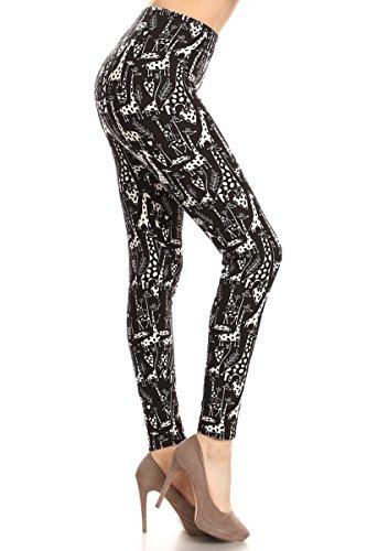 R861-OS Giraffiti Printed Fashion Leggings, One Size ()