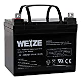 Weize 12V 35AH Rechargeable SLA Deep Cycle AGM Battery Replaces 12 Volt 33AH