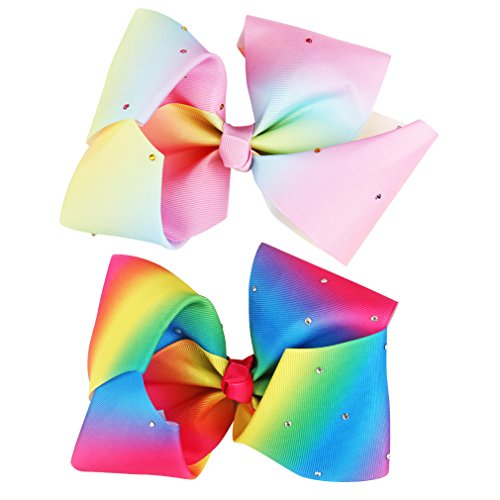 Ondder Boutique Baby Girls Big Hair Bows Clips 2 Pack 7