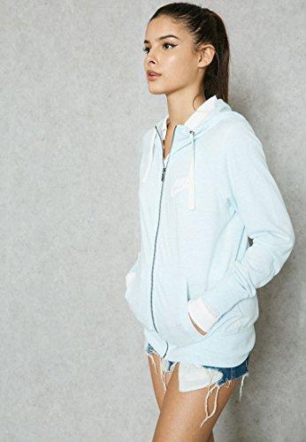 Nike Women's Sportswear Gym Vintage Hoodie, Blue (S)