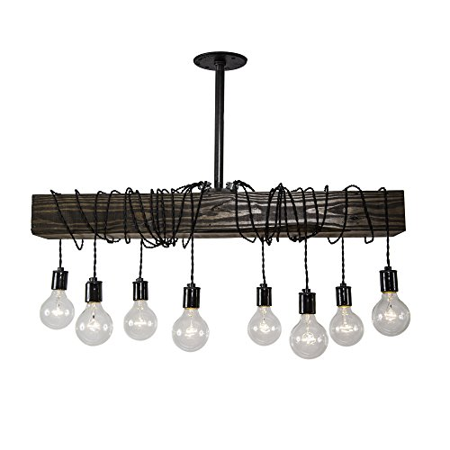 Fayette Wood Beam Chandelier Installation product image