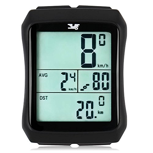 007KK Bike Speedometer Waterproof Wireless Bicycle Bike Computer and Odometer with Cadence Sensor for Outdoor Cycling and Fitness