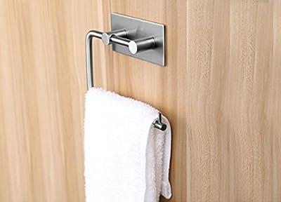 Aprince Stainless Steel Bathroom Hooks Lavatory Closets 3M Self Adhesive Coat Towel Robe Hook Rack Rail