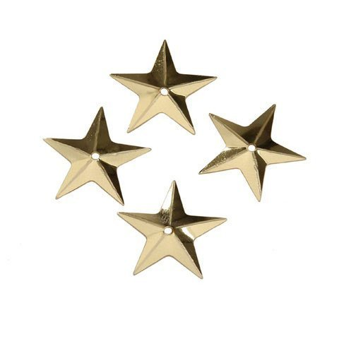 Gold Star Sequins - 3 Packs of 50 Stars Each -