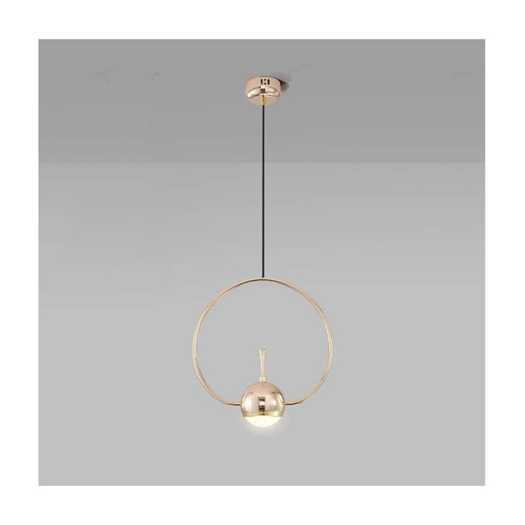 NIAI 照明ガラス真鍮シャンデリア - 北欧レストラン寝室現代ミニマリストのベッドサイドラウンドシャンデリア室内灯   B07T4ZHHL2
