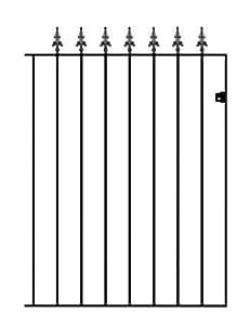 Seguridad Spear gaélico alto Garden Gates 762mm, 914mm o 1067mm GAP x 3m o 4m de alto hierro forjado Metal puerta...