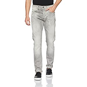 G-Star Raw Men's 3301 Tapered-Fit Jean in Kamden Grey