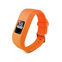 Tuff-Luv Garmin Vivofit 3 Silicone Wrist / Watch Strap - Orange