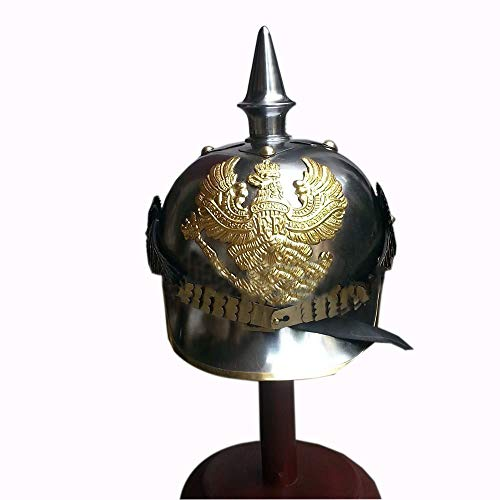 (Prussian Helmet, German Pickelhaube Helmet WWI Helmet, WWII Helmet)