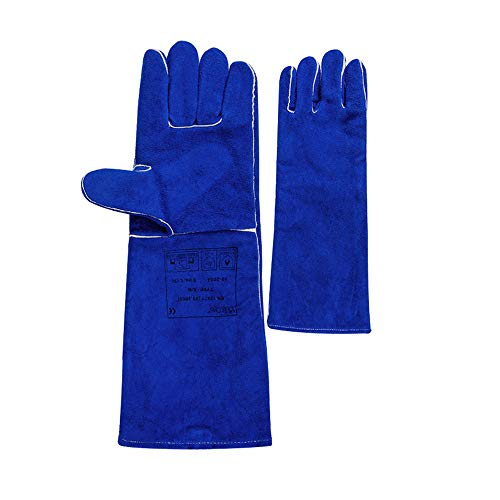 Leather Welding Gloves and Long Thick Welder Gloves Super Wear-Resistant Protective Gloves,L