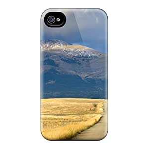 Saraumes Case Cover Protector Specially Made For Iphone 4/4s Country Road To The Mountain