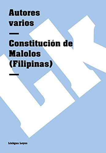 Descargar Libro Constitución De Malolos Autores Varios