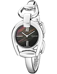 Horsebit Collection Analog Display Swiss Quartz Silver-Tone Women's Watch(Model:YA139503)
