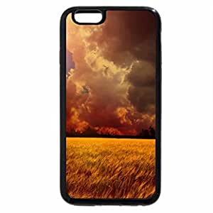 iPhone 6S / iPhone 6 Case (Black) Great Moment At Yellow Wheat Field