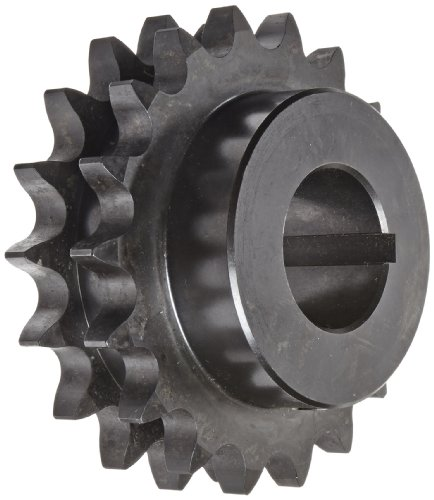 (Martin Winch Roller Chain Sprocket, Hardened Teeth, Bored-to-Size, Type B Hub, Double Strand, 80 Chain Size, 1