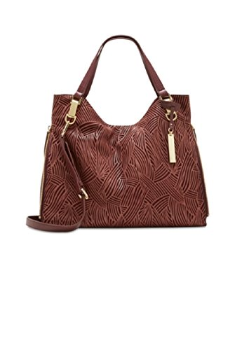 - Vince Camuto Riley Leather Tote, Black Cherry