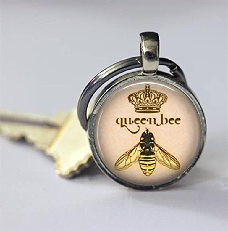 Beautiful Dandelion Llavero de abeja reina con insectos de ...