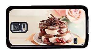 Hipster Samsung Galaxy S5 Case indestructible Dessert Cake PC Black for Samsung S5