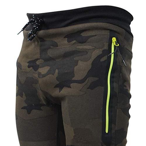 Coulisse Green Uomo Nero Confezione Mimetica Moda Outdoor Army Splicing Pantaloni zHxqXFz