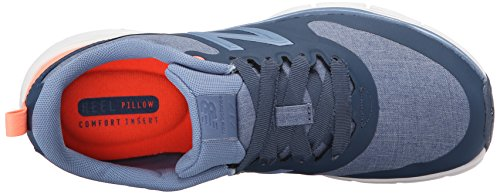 New Balance Womens WF717 Fitness Shoe, Chambray Blue/Coral, 5.5 D US Chambray Blue/Coral