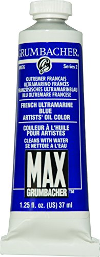 Grumbacher Max Water Miscible Oil Paint, 37ml/1.25 oz, French Ultramarine ()