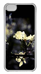 Customized iphone 5C PC Transparent Case - Blossom 3 Personalized Cover