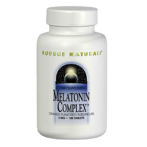 Source Naturals Sleep Science Melatonin Complex 3mg Orange With GABA, B-6 & More - Supports Natural Sleep/Wake Patterns & Rhythms - Non Habit - 100 Lozenges