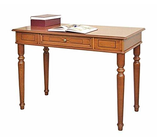 Arteferretto Bureau Style Classique Avec Tiroirs Et Stucs Table Bureau Ecriture Ecritoire Couleur Merisier Largeur 107 Cm Pour Petit Espace