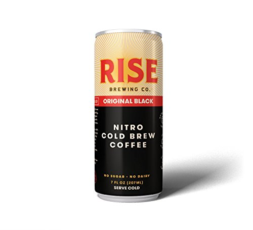 RISE Brewing Co. | Original Black Nitro Cold Brew Coffee (12 7 fl. oz. Cans) - Sugar, Gluten & Dairy Free | Organic, Non-GMO Ingredients | Clean Energy, Low Acidity, & Naturally Sweet | 0 Calories