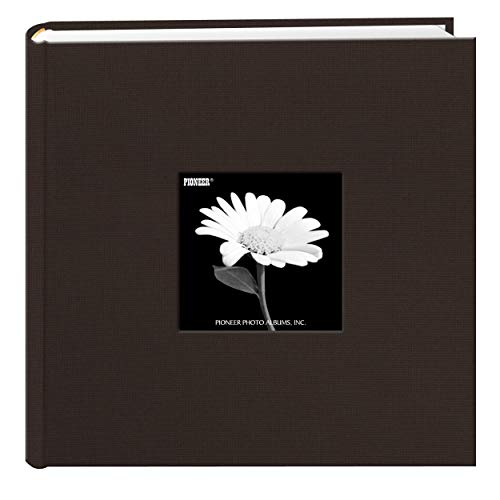 Fabric Frame Cover Photo Album 200 Pockets Hold 4x6 Photos, Chocolate Brown