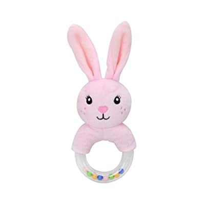 Per Cute Innovative Cartoon Rabbit Fox Sheep Hand Ring Rattle Baby Plush Toy Baby Stroller Toy: Home Improvement