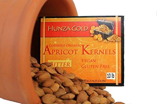Hunza Gold Certified Organic Bitter Apricot Kernels - 10 Lb by Hunza Gold