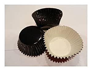 48 Black Foil Cupcake Liners Baking Cups Standard Size Cake Decorations Baking Tools