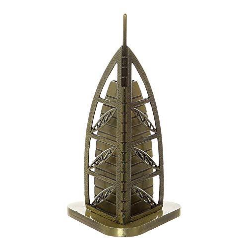 PROW Bronze Dubai Burj Khalifa Metal Figurine Statue Building Replica Architecture Model Dubai Home Ornament Decor Souvenir Gifts, 6.3 Inch (16cm)