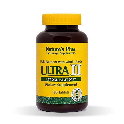 - NaturesPlus Ultra II Multivitamin - 180 Vegetarian Tablets - Daily Vitamin Whole Food & Mineral Supplement for Overall Health, Natural Energy Booster - 180 Servings