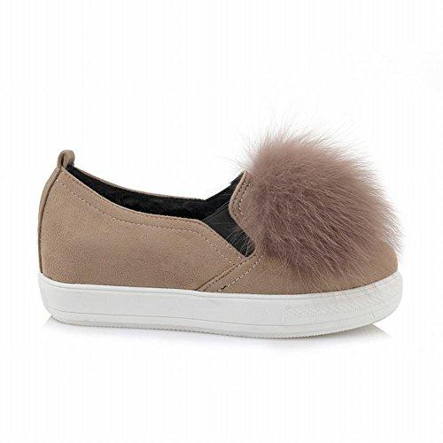 Latasa Femmes Faux Cheveux Glisser Sur Des Mocassins Chaussures Cannelle