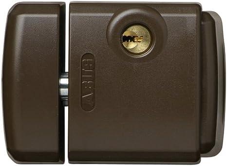 Abus FTS 3003 B - Cerrojo de presión con soporte para ventana o puerta corredera marrón