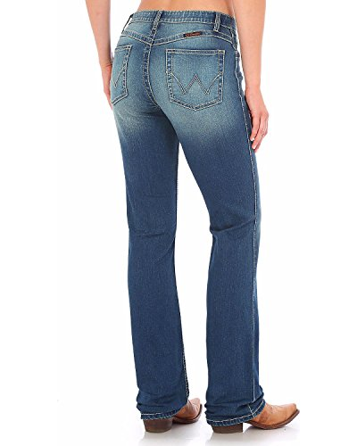 Wrangler Women's Indigo Ultimate Riding Q- Jeans Boot Cut Indigo 7W x - Riding Wrangler Jeans
