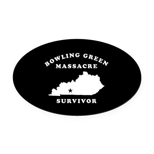 CafePress - Bowling Green Massacre Survivor - Oval Car Magnet, Euro Oval Magnetic Bumper Sticker ()