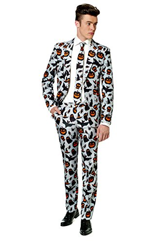 SuitMeister Halloween Icons Grey Suit Small (Classy Halloween Costumes Men)