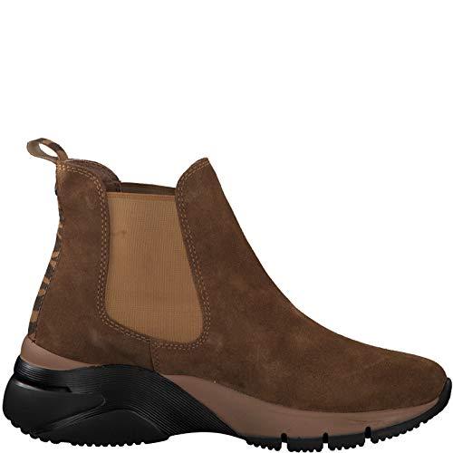 Tamaris Damen Stiefeletten 25441 Leder Boots schwarz